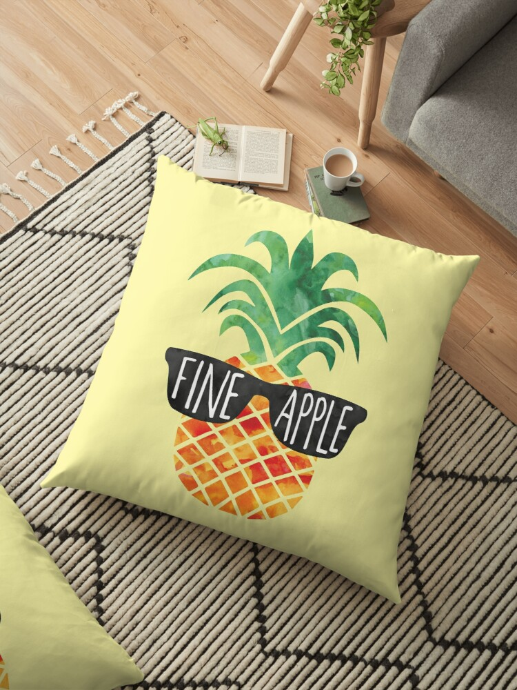 'FINEapple - funny Pineapple pun, funny T Shirt, mug, pillow, beach,  Pineapple Gift, Fine, Apple, Pun, Summer, Vacation, vacay, chill, gift'  Floor