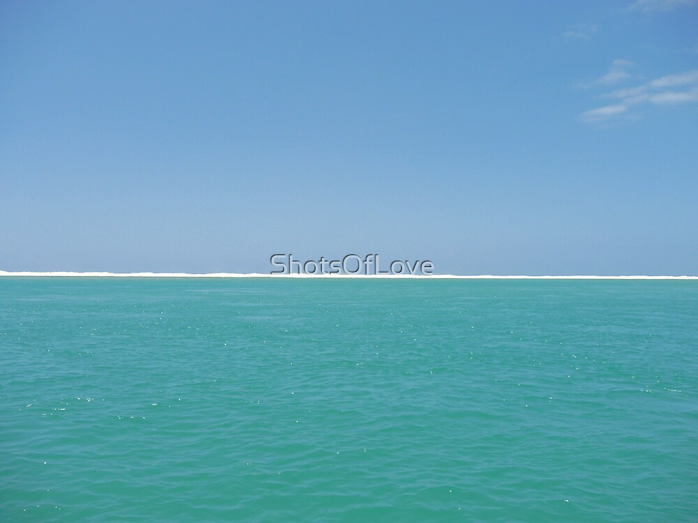 A Straight White and Aqua Line  by ShotsOfLove