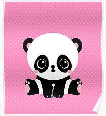 Cute Panda (Pink) Poster