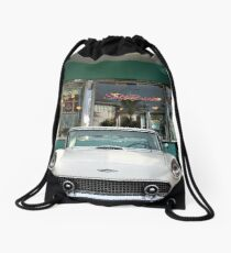 Classics at Mel's Drive In Drawstring Bag