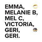 Spice Girls Names Tee by brokehip