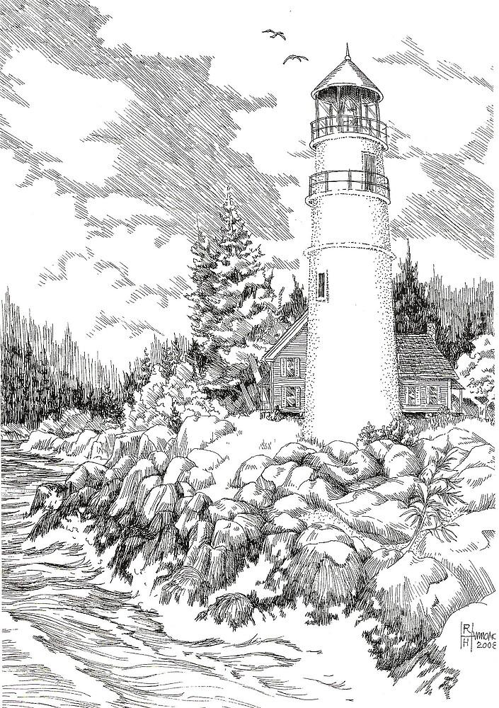 Maine Lighthouse by BobHenry