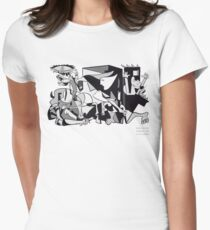 Pablo Picasso Guernica 1937 Artwork Shirt, Art Reproduction Women's Fitted T-Shirt