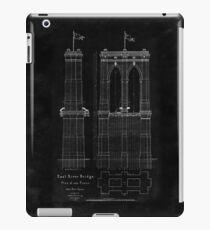 Brooklyn Bridge East River Bridge blueprint plan iPad Case/Skin