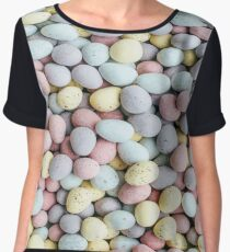 Color Egg Egg Chiffon Top