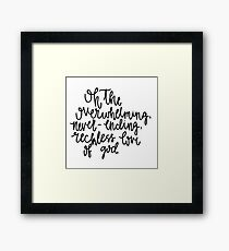 Song Quote- Reckless Love  Framed Print