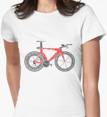 Anatomy of a Time Trial Bike Women's Fitted T-Shirt