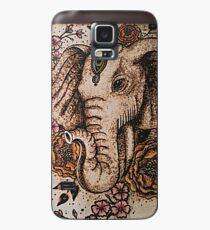 Elefantenböhmische Blumen Hülle & Klebefolie für Samsung Galaxy