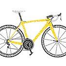 Typographic Anatomy of a Tour de France Bike by jarodface