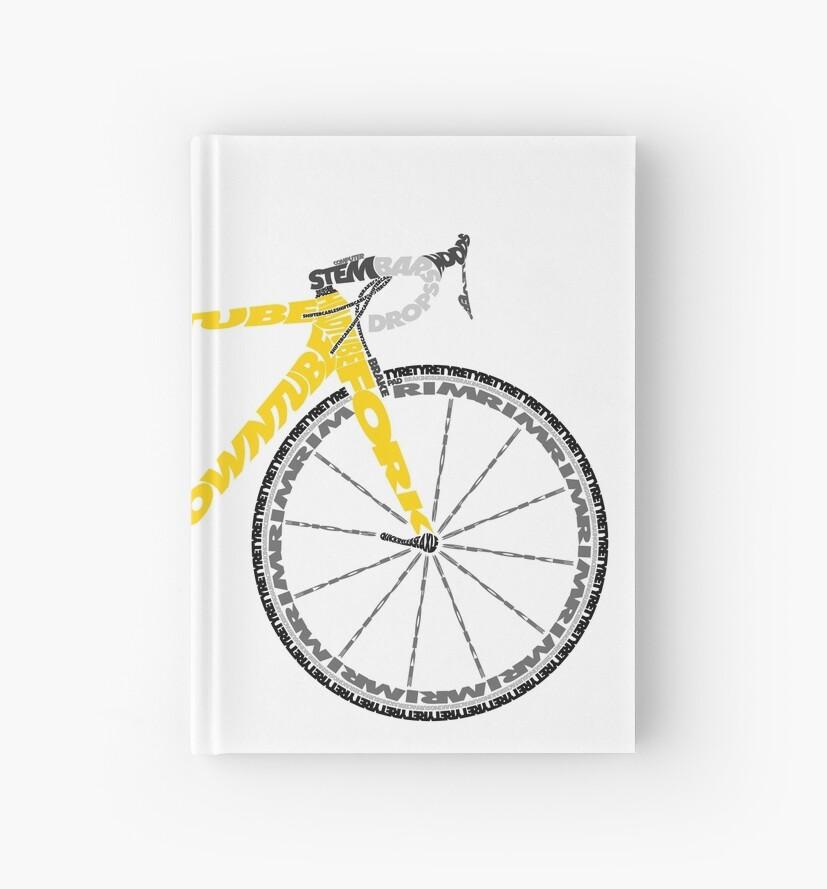 Typographic Anatomy of a Tour de France Bike\
