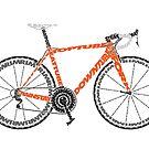 Typographic Anatomy of a Road Bike by jarodface