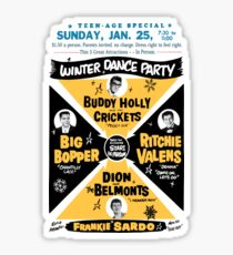 Winter Dance Party - Retro Music Festival Poster Sticker