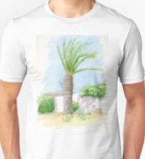 Portugal villa with tree Unisex T-Shirt