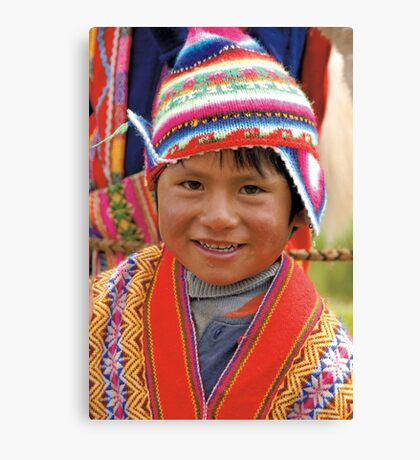 Peruvian boy Canvas Print