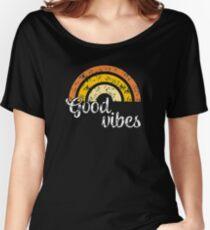 Good Vibes Rainbow T-Shirt Women's Relaxed Fit T-Shirt