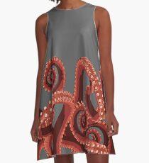 Octopus Tentakeln # 9 A-Linien Kleid