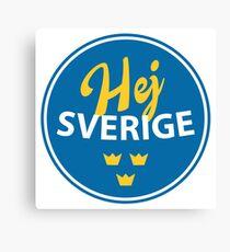 Hej Sverige, Sverige, Sweden, circle Canvas Print