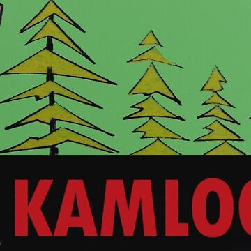 Kamloops BC Deer Vintage Travel Decal by hilda74