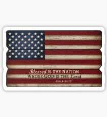 Blessed is a nation whose God is the Lord - America  Sticker