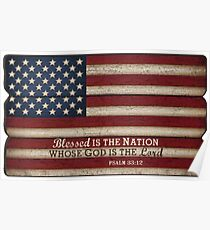 Blessed is a nation whose God is the Lord - America  Poster