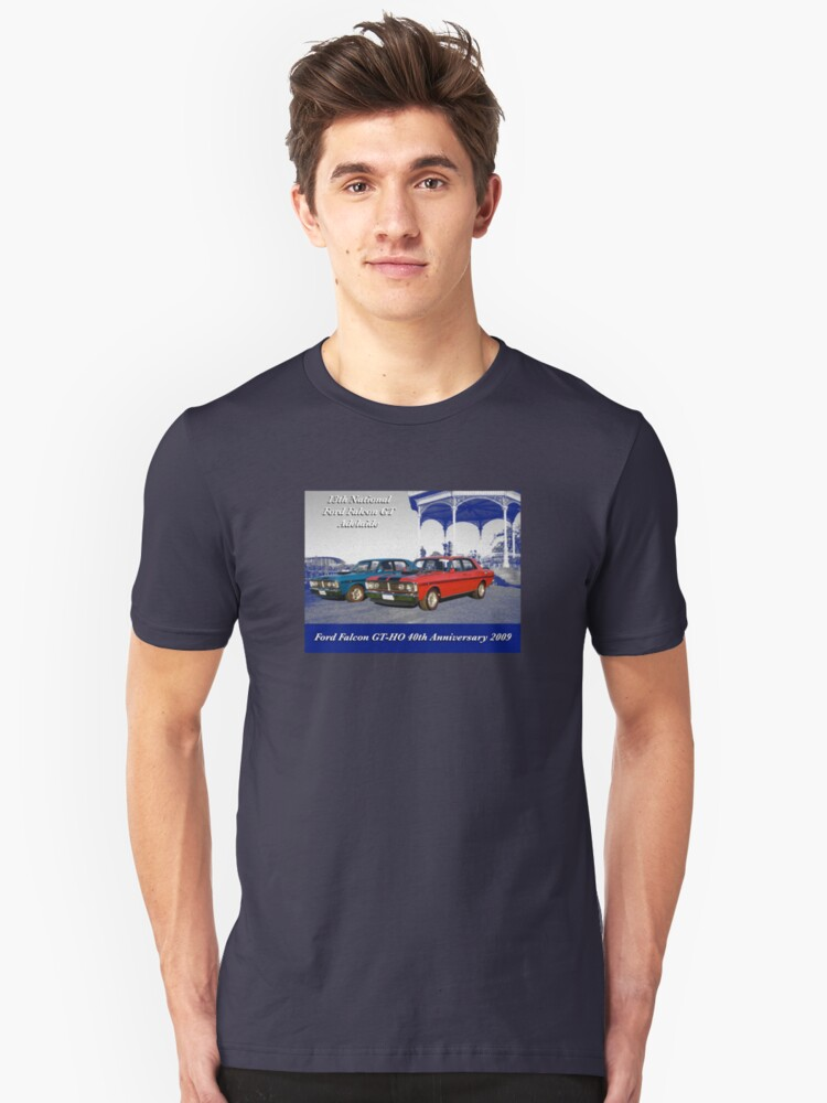 40th Anniversary Ford Falcon GTHO Unisex T-Shirt Front