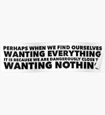 Sylvia Plath quote - desire Poster