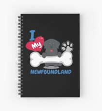 NEWFOUNDLAND - I Love My NEWFOUNDLAND Gift Spiral Notebook