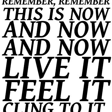 Sylvia Plath quote - be here now by savantdesigns