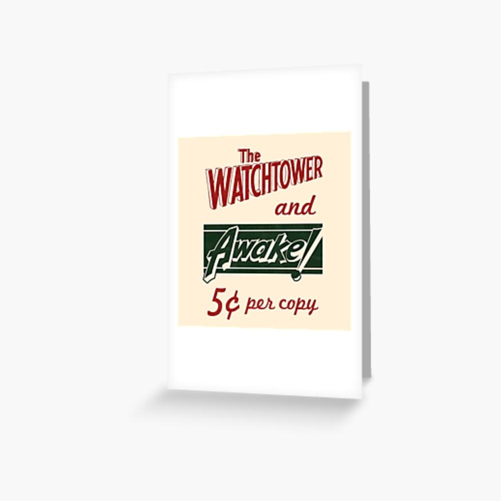 WATCHTOWER & AWAKE! VINTAGE MESSENGER BAG Greeting Card