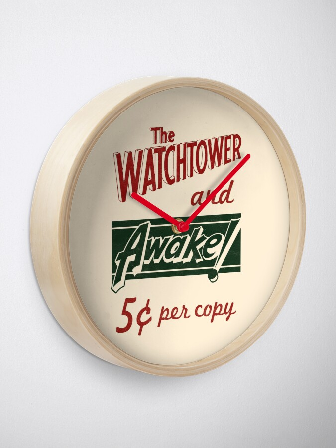 Alternate view of WATCHTOWER & AWAKE! VINTAGE MESSENGER BAG Clock
