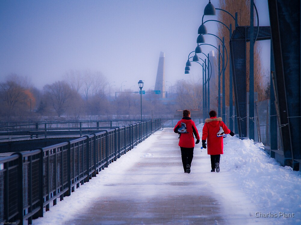 Going For A Skate - Montreal, Quebec Canada by Charles Plant