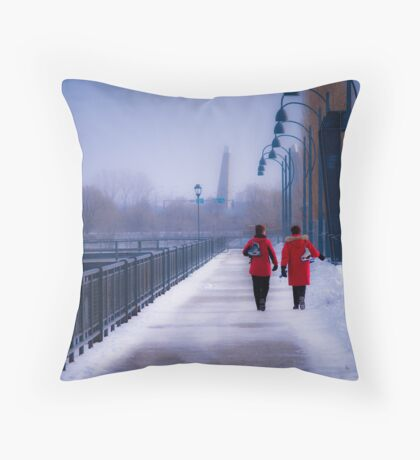 Going For A Skate - Montreal, Quebec Canada Throw Pillow