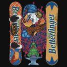 Evil Clown T Shirt Butterfinger Snowboard by bear77