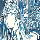Fox By Moonlight by D Y Hide