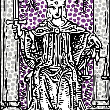 11 - Justice - A Tarot Print by annaleebeer