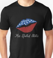 Miss United States. Lips Unisex T-Shirt