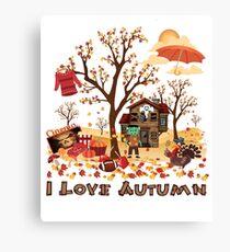 I Love Autumn Fall Scenery and Landscape Canvas Print
