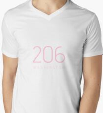 WASHINGTON 206 • ROSE Men's V-Neck T-Shirt