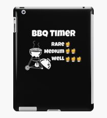 bbq whisky timer white iPad Case/Skin