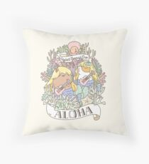 Rodent Mermaid Duo Throw Pillow
