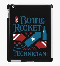 4th of July Fireworks Bottle Rocket Technician USA Flag iPad Case/Skin