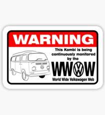 Volkswagen Kombi Tee shirt - WARNING! Sticker