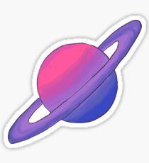 LGBT pride planet: Bi Flag Sticker