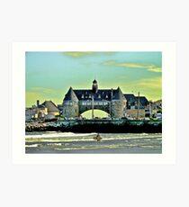 Narragansett Pier Beach - The Towers *featured Art Print