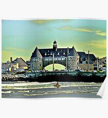 Narragansett Pier Beach - The Towers *featured Poster