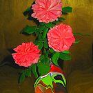 Paper Roses  by Linda Miller Gesualdo