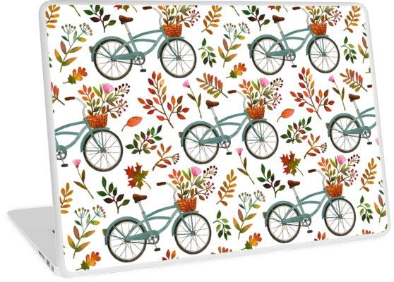 «Paseo en bicicleta de otoño sobre fondo blanco» de MirabellePrint