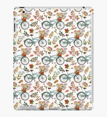 Autumn bike ride on white background iPad Case/Skin