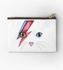 MEOWIE BOWIE DAVID BOWIE CAT KITTY KITTENS KITTEN CUTE KAWAII ROCK GOTH ZIGGY STARDUST BABY  Studio Pouch