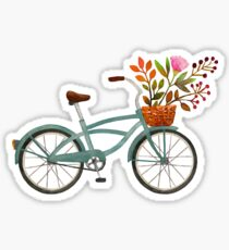 Autumn bike ride on white background Sticker